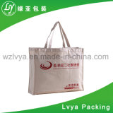2017 Custom Printed Logo Christmas Paper Cotton Canvas Shopping Bags with Handles