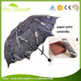 Schöner roter Drucken-China-Hochzeits-Regenschirm