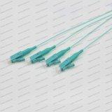 SM Sx de LC/Upc Om1/Om2/Om3/Om4 0.9 cordon de connexion de fibre optique de tresse de PVC/LSZH