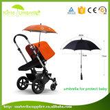 Carrinho de criança feito-à-medida da chuva de Sun do Pram da criança da cópia do logotipo caminhantes roxos do bebê guarda-chuva