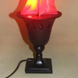 Efeito de incêndio de seda da luz da flama da tabela para a decoração
