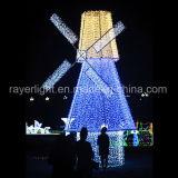 RGB LED de iluminación de la cadena de decoración de las luces de molino de viento de Navidad