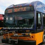 Muestra ambarina de la ruta del omnibus LED del alto brillo