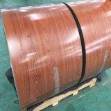 Du grain du bois les bobines de feuille de toiture prépeint, toitures matériaux en feuille.
