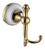 Montaggio dorato della stanza da bagno dell'anello del supporto/tovagliolo del piatto di sapone della Rosa