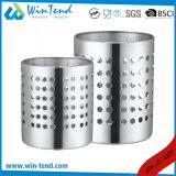 ステンレス鋼の二重線の6つの格子ビュッフェの平皿類のバスケットのホールダー