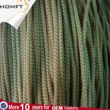 Corde tressée/cordon de chaîne de caractères ronde bleue de polyester