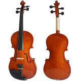 Le contreplaqué débutant le violon avec rouge brillant finitions marron