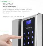 Impressões digitais de alta tecnologia a fechadura de porta de vidro com código secreto
