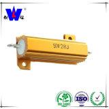 Rx24 Golden Aluminum Encased Wirewound Resistor