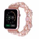 Appleの腕時計のための女性真珠のブレスレットの宝石類の時計バンド