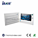 7 LCD van de duim de Video brochure-Video boekje-Video van de Kaart in Af:drukken
