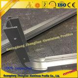 Perfil de aluminio extrusionado de OEM con doblar el mecanizado de cuadro de publicidad