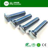 Blaue verzinkte Pilz-Kopf-Quadrat-Stutzen-Wagen-Schraube (DIN603)