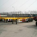 容器輸送3の車軸骨組フレームのトラックのトレーラー