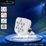 18PCS 4in1 RGBW, 5in1 RGBWA 의 6in1RGBWA+UV LED 단계 편평한 동위 점화