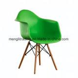 EMS Silla de estilo de las patas de madera natural Asiento y respaldo acolchado para sillas de comedor en blanco y negro