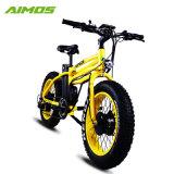 Changzhou Aimos asistencia pedal neumático Fat bicicleta eléctrica con los pedales