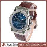 Heiße verkaufende echtes Leder-Quarz-Armbanduhr, Quarz-Uhr der Männer