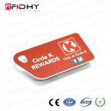 T5577 de proximidad RFID de PVC Llave inteligente de control de acceso a la etiqueta de llavero