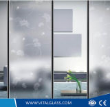 el vidrio helado templado 4-12m m/el vidrio obscuro/ácido grabó al agua fuerte el vidrio del edificio para la decoración