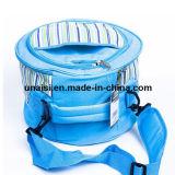 Цилиндрическим мешок формы ведра изолированный охладителем для пикника обеда