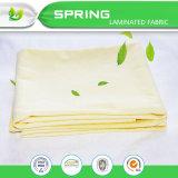 Folha de base poli impermeável superior do plano da tela de Terry do algodão com elástico
