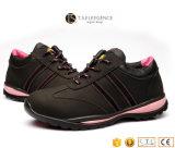 Повелительницы ботинок безопасности кожаный стального пальца ноги женщин работая