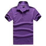 Maglietta organica del cotone di polo puro di colore