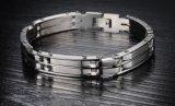 パンク2つの層の方法バイクモーターMotorcyleのチェーンチタニウムのステンレス鋼のバイカーの人のブレスレットの腕輪の宝石類