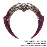 ゾンビの頭骨ヘッド想像のナイフ表の装飾19*18cm