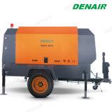 A alimentação de gasóleo portátil de compressores de ar de parafuso rotativo para obras rodoviárias