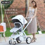 Fabrik-Großverkauf-Baby-Spaziergänger 2 in 1 Spaziergänger-Baby, das hellen Spaziergänger faltet