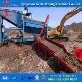 Lavatrice dell'oro dell'impianto di lavaggio rotativo dell'attrezzatura mineraria della sabbia del fiume piccola