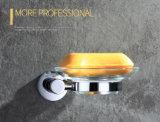 잘 고정된 둥근 작풍 금관 악기 비누 홀더 크롬 완료 2411