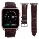 riem van het Horloge van het Leer van het Patroon van de Krokodil van 42mm de Echte voor Appel