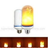 Efecto de fuego ligero ardiente del bulbo de lámpara de la llama del parpadeo de E27 E14 B22 LED decorativo
