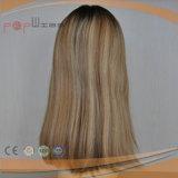 Stock еврейский Kosher Silk верхний парик Sheitel (PPG-l-0242)