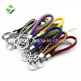 Supporto chiave Braided variopinto all'ingrosso di Keychain dell'anello chiave della corda