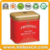 [إنغليش بركفست] شاي قصدير [كدّي] لأنّ زخرفة معدن شاي عليبة