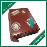 Venta al por mayor acanalada de encargo del rectángulo de regalo del cartón de la puerta doble