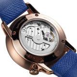 montre véritable de la courroie en cuir des hommes simples résistants de montre de l'eau 5ATM