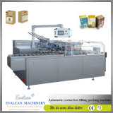 Máquina de encuadernación de la bolsita del sistema de la imagen doble por la lámina del Cartoner del embalaje horizontal automático del rectángulo de papel
