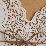 Los encajes de corte láser Invitaciones de Boda Vaquero Occidental personalizar tarjetas de invitación