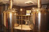Equipamento de cobre vermelho da fabricação de cerveja de cerveja do sistema da erva-benta do aço inoxidável da cor 600L de Rosa