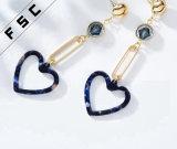 Europäisches Amerika-Art-Inneres geformtes lang baumeln hängen Ohrringe für Frauen