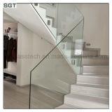 Niedriges Eisen abgehärtetes Treppen-Glasgeländer