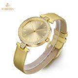 Kundenspezifische Firmenzeichen-Dame-Quarz-Uhr-Kristall-Armbanduhr 71345