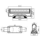 Indicatore luminoso capo mobile della fase del fascio di vendita 7PCS 15W LED della lamierina calda del pixel