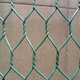 Anpingは六角形の金網の金網/PVCによってに塗られた鶏の塀電流を通した